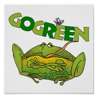 Green Frog Ecology Gift Poster