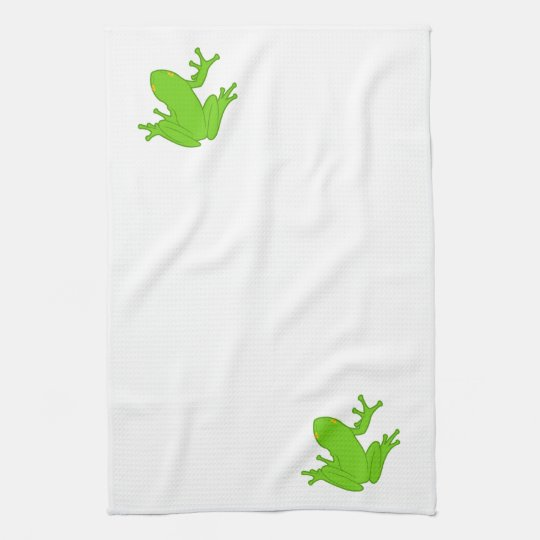 Green Frog Hand Towel