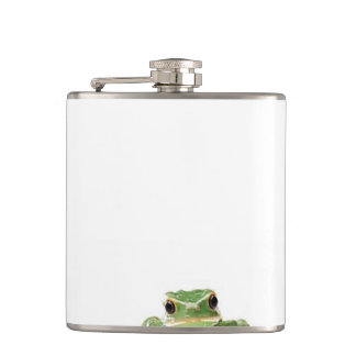 Green Frog Hip Flask