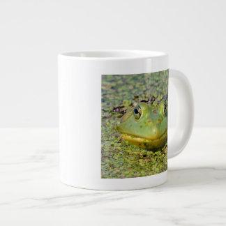 Green frog in duckweed, Canada Large Coffee Mug