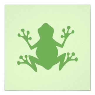Green Frog 5.25x5.25 Square Paper Invitation Card
