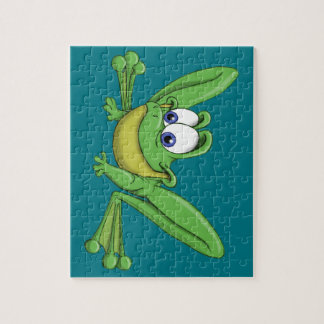 GREEN FROG JIGSAW PUZZLE