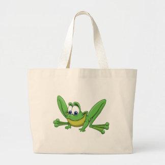 GREEN FROG LARGE TOTE BAG