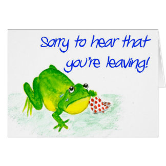 Green Frog 'Leaving' Card