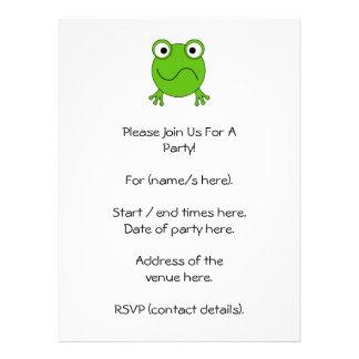 Green Frog Looking confused Custom Invitation
