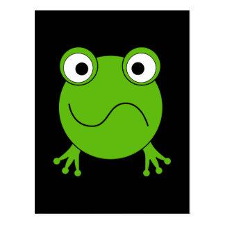Green Frog. Looking confused. Postcard