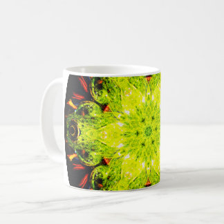 Green Frog Mandala Coffee Mug