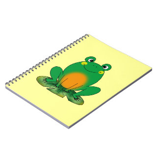 Green frog notebook