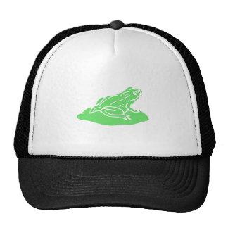 Green Frog On Lilypad Trucker Hats