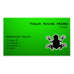 Green Frog Pack Of Standard Business Cards