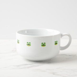 Green Frog Soup Bowl With Handle