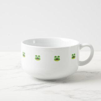 Green Frog Soup Mug