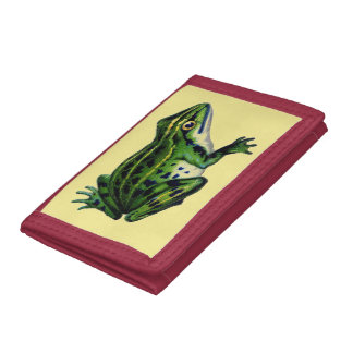 Green Frog Tri-fold Wallet