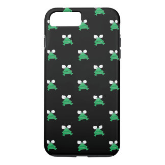 Green Frogs on Black Cell Phone Cover