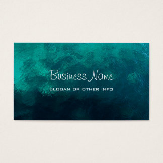 Green Frosted Glass Texture Business Card