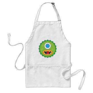 Green funny monster aprons