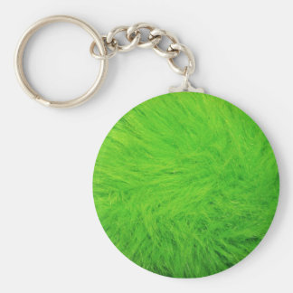 Green Fur Keychain