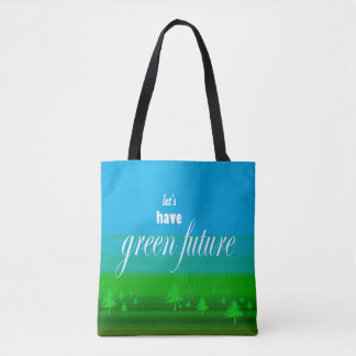 green future tote bag