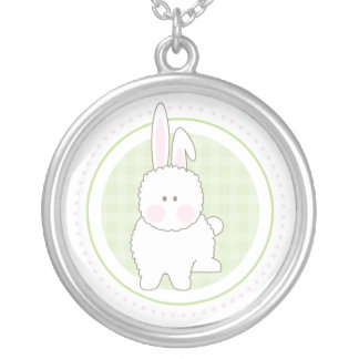 Green Fuzzy Bunny Necklace