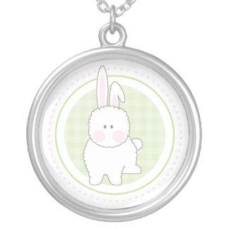 Green Fuzzy Bunny Necklace