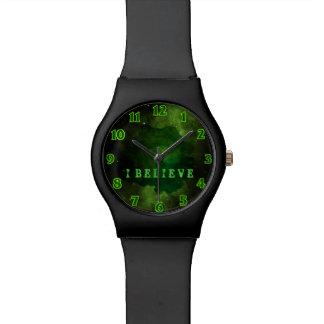 Green Galaxy Cosmos Watch