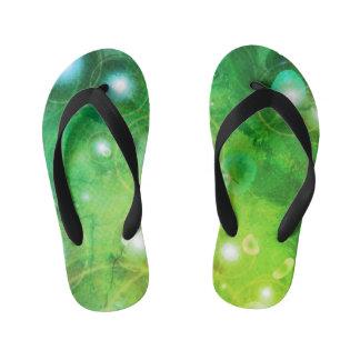 Green Galaxy Flip Flops