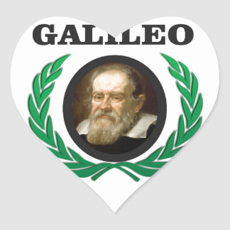 green galileo heart sticker