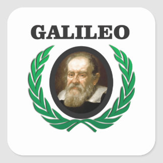 green galileo square sticker