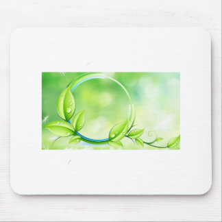 Green Garden Leaves Mouse Pad
