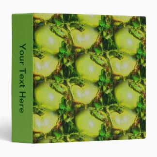 Green Garden Tomatoes Nature Art Vinyl Binder