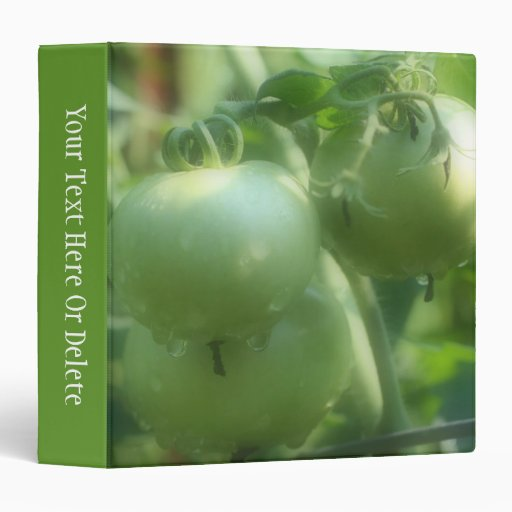 Green Garden Tomatoes On Vine Nature Binder