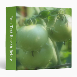 Green Garden Tomatoes On Vine Nature Vinyl Binder