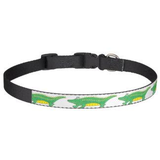 Green Gator Alligator Croc Crocodile Animal Print Pet Collar