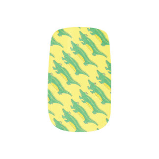 Green Gator Alligator Crocodile Croc Animal Print Minx Nail Art