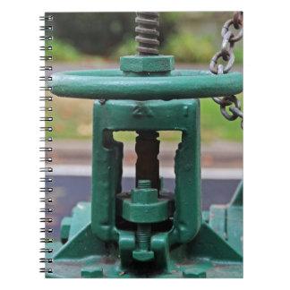 Green Gears In San Francisco III Spiral Note Books