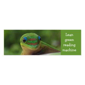 Green Gecko bookmark Mini Business Card