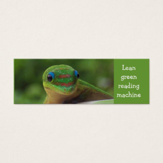 Green Gecko bookmark Mini Business Card