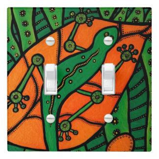 Green Gecko Lizard Light Switch Cover