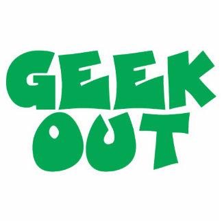 Green Geek Out Text Design Photo Sculpture