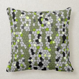 Green Gems Throw Pillow