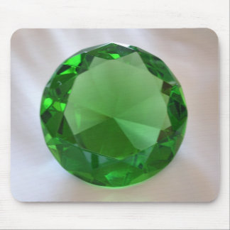 Green Gemstone Mouse Pad
