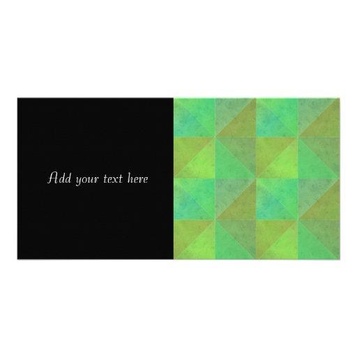 Green Geometric Art Watercolor Pattern