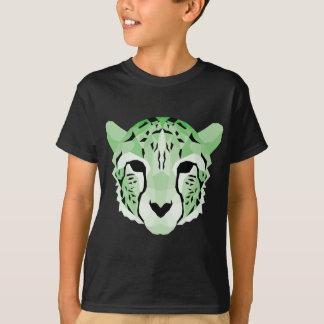 Green geometric cheetah design T-Shirt