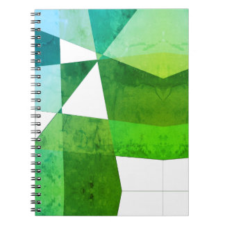 Green Geometric Notebook