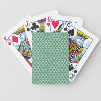 Green Geometric Pattern Bicycle Playing Cards