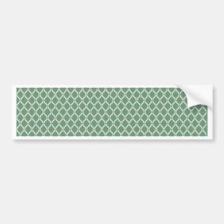Green Geometric Pattern Bumper Sticker
