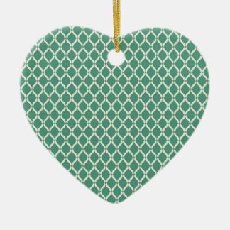 Green Geometric Pattern Ceramic Ornament