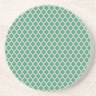 Green Geometric Pattern Coaster