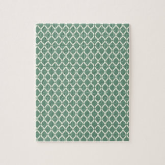 Green Geometric Pattern Jigsaw Puzzle