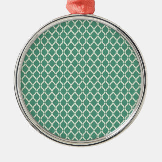 Green Geometric Pattern Metal Ornament